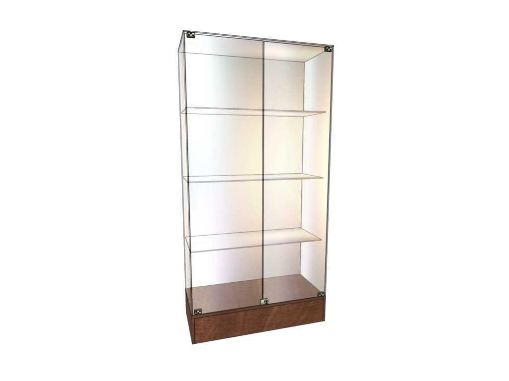 Витрины стеклянные с низким подиумом от производителя