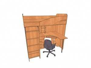 Мебель для детской комнаты ДС3 любой цвет и размер