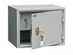 Бухгалтерский шкаф металлический серый КБ-02Т