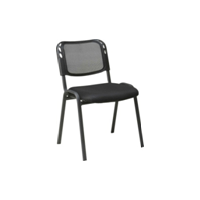 Изо Net (ткань спинка сетка серая, сиденье св. серая, черн.муар)