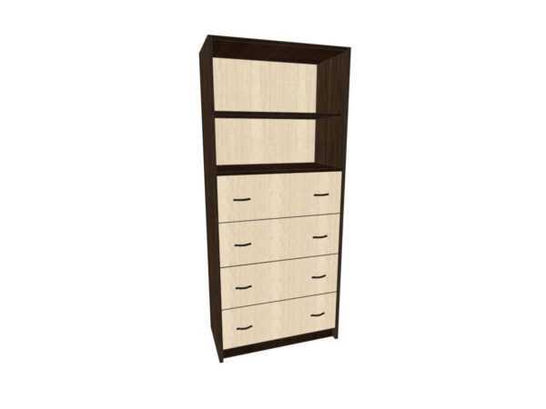 Шкаф для офиса с четырьмя нижними ящиками Лдсп ОШ-1