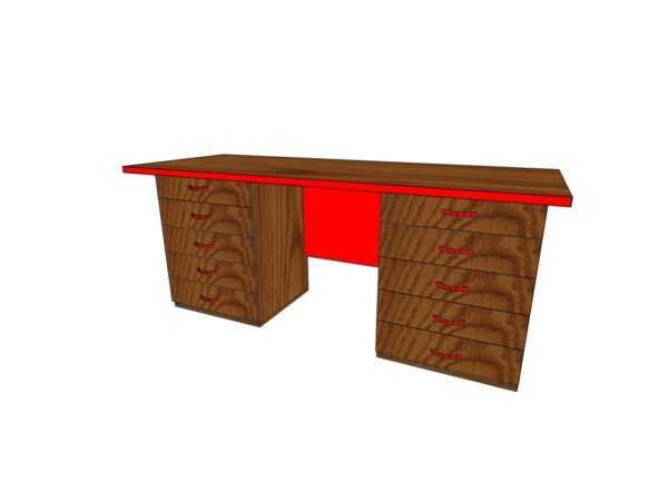 Стол письменный с ящиками 1600*600*750мм ЛДСП