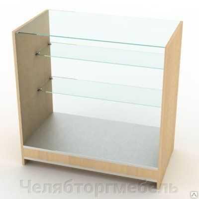 Прилавок остекленный с двумя стеклянными полками 900*500*900