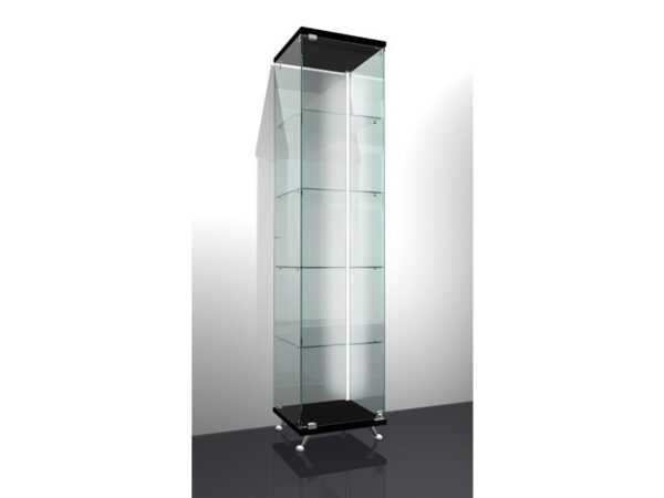Витрина стеклянная на ножках 400*400*1750