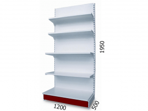 Стеллаж торговый металлический 1200х500х1950мм