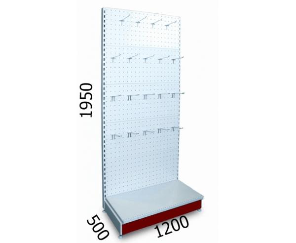 Стеллаж перфорированный металлический 1200х500х1950мм