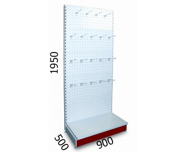 Стеллаж металлический перфорированный 900х500х1950мм
