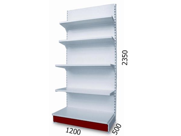Стеллаж торговый металлический 1200х500х2350мм