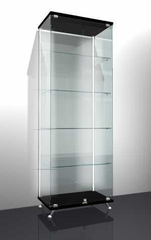 Витрина стеклянная ножках 400*400*1750
