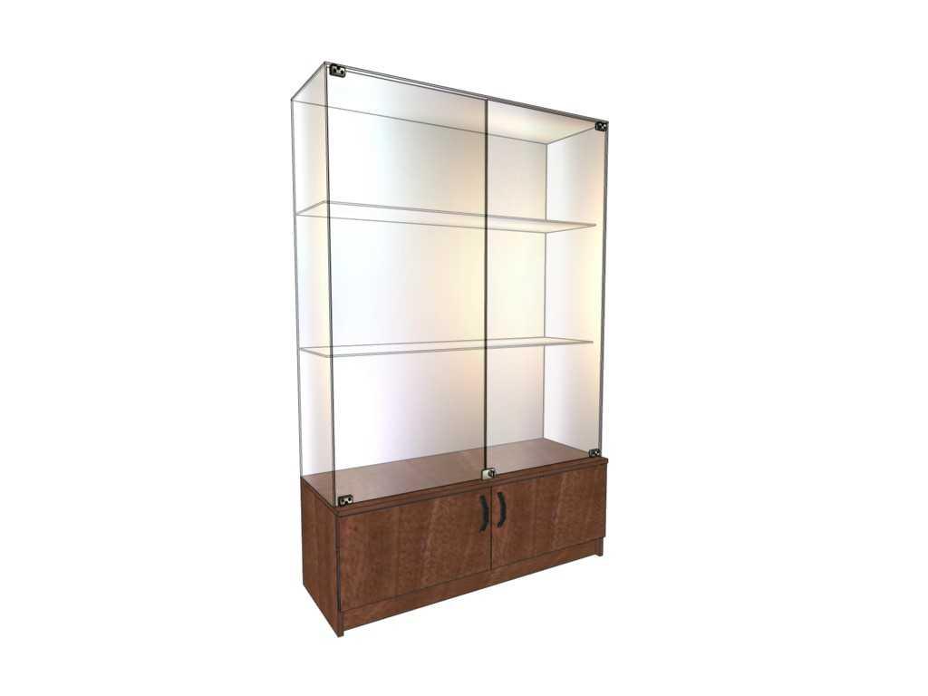 Купить витрины стеклянные с накопителем от производителя