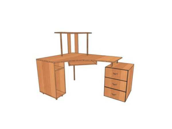 Компьютерный стол КС 13 для дома и офиса 64 вида ЛДСП