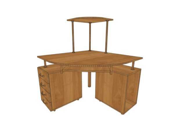 Компьютерный стол КС 14 для дома и офиса 64 вида ЛДСП