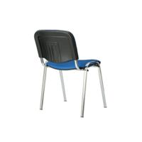 Изо стул (ткань мебельная, цветная, каркас хром)