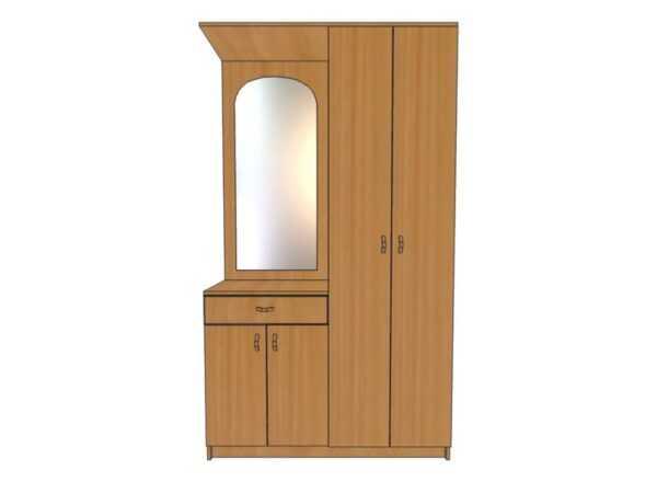 Прихожая с зеркалом, ящиком и дверьми ПР20