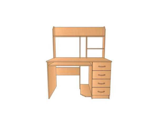 Компьютерный стол КС 20 для дома и офиса ЛДСП