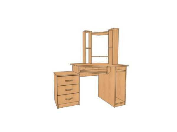 Угловой стол КС 21 для дома и офиса 64 вида ЛДСП