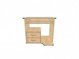 Письменный угловой стол КС 22 для офиса и дома