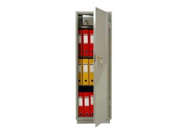 Бухгалтерский шкаф КБ-21Т офисный серый металлический