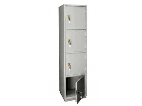 Бухгалтерский шкаф КБ-06 серый металлический