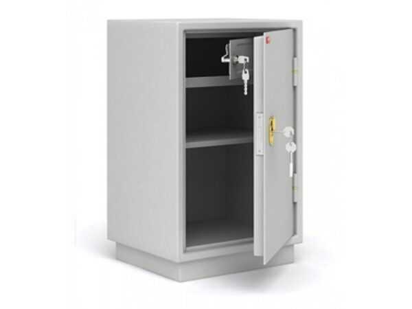 Бухгалтерский шкаф КБ-012Т металлический серый