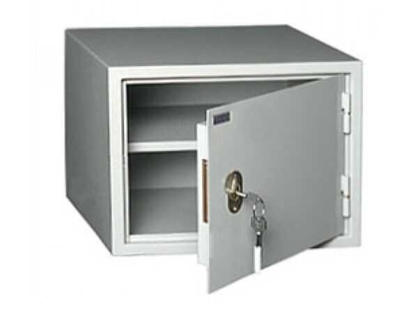 Бухгалтерский шкаф металлический серый КБ-02