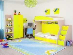 Детская мебель двухярусная кровать ДМ1