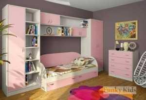 Детская кровать шкафы и комод ДМ9