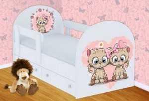 Детская кровать Котята