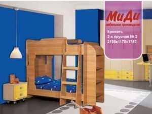 Кровать двухъярусная № 2