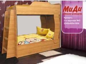Кровать двухъярусная детская № 3