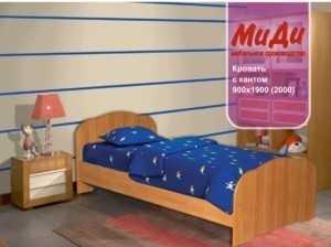 Кровать детская с кантом без матраца