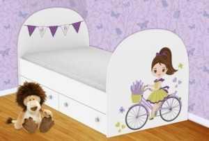 Детская кровать Велосипедистка