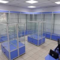 Купить витрины алюминиевые торговые для магазина