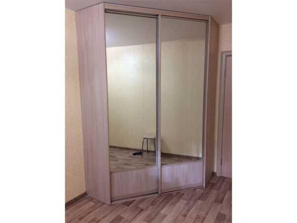 Шкаф-купе угловой двери зеркало ЛДСП