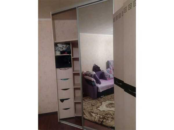 Шкаф-купе угловой двери зеркало 2