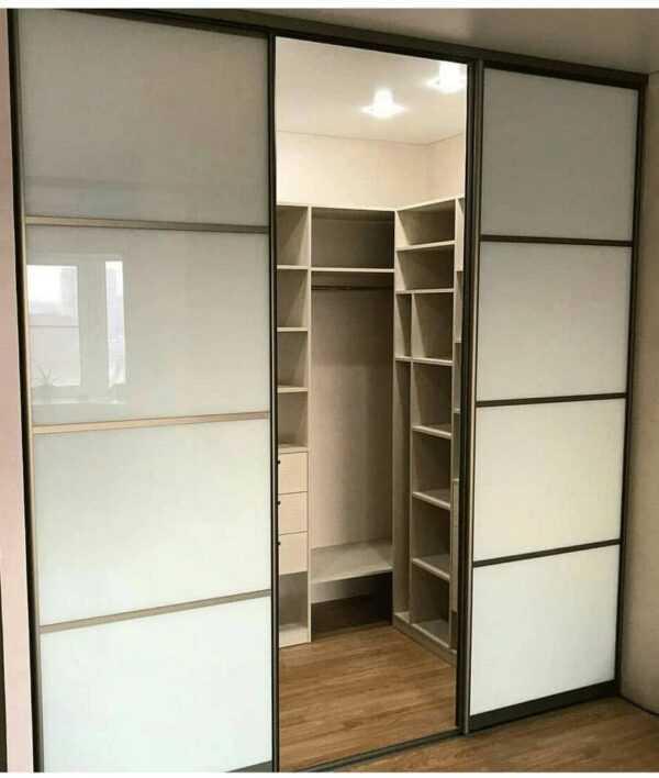 Шкаф купе гардеробная встроенный с ящиками