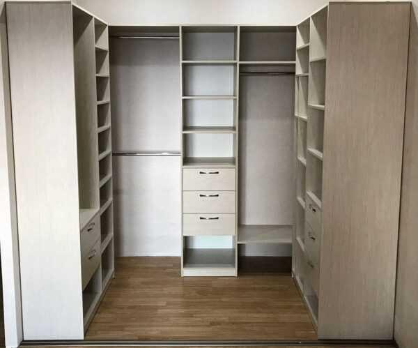 Шкаф купе гардеробная встроенный с ящиками 4