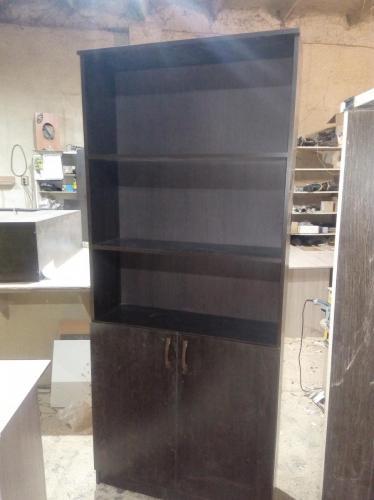 Шкаф для офиса ЛДСП венге темное